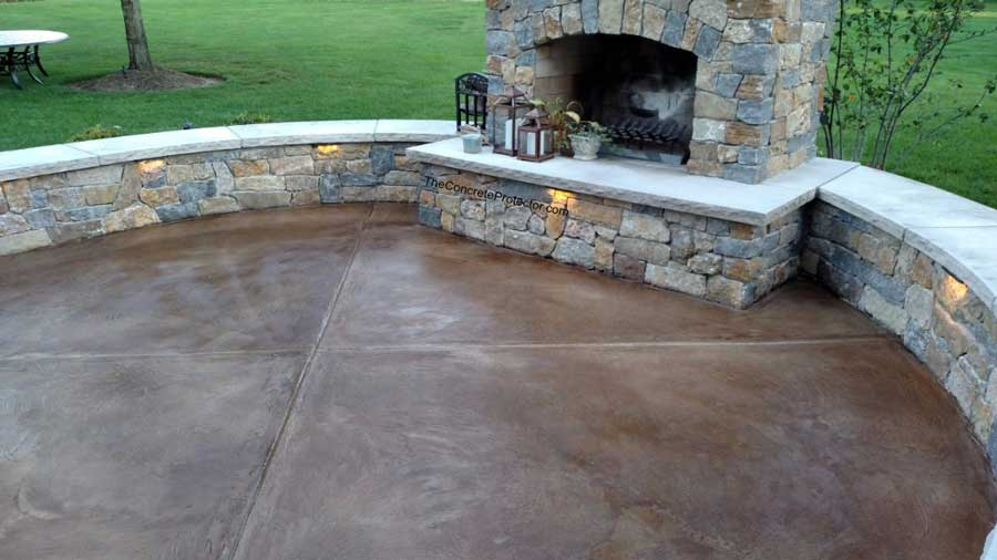 Slate Stained Concrete | Thomasville Georgia | Floor Warriors